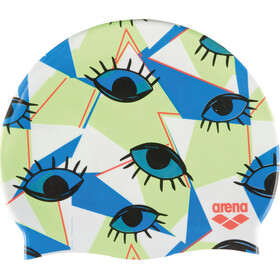arena Print 2 Swimming Cap eyes white